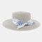 Women Travel Vacation Beach Hat Jazz Straw Hat Sun Protection Sun Hat - Gray