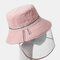 COLLROWN Removable Sun Visor Fisherman Hat Anti-droplet Cap Cover Face  - Pink