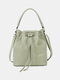 Classic Little Dot All-Over Decor String Exquisite Hardware Wearable Breathable Crossbody Bag - Green