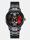 3D Hollow Wheel Hub Design Waterproof Fashion Full Steel Men Watch Quartz Watch - #03