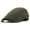 Men Cotton Solid Color Beret Cap Duck Hat Sunshade Casual Outdoors Peaked Forward Cap Adjustable Hat