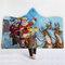 130 * 150cm Manta de franela engrosada Muñeco de nieve de Navidad Impresión suave suave manta