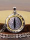 Vintage Alloy Glass Printed Women Necklaces Crocodile Eyes Pendant Sweater Chain - #08