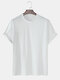 Mens Solid Color Basic Oversized 100% Cotton Short Sleeve T-Shirts - White