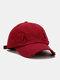 Coton unisexe trous cassés mode chapeau de baseball pare-soleil extérieur - Vin rouge