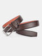 Men Faux Leather Belt Casual Fashion Business All-match Leather Belt - #02