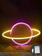 LED Planet Pattern Neon Light Dual-use Battery USB Charging Home Room Decor Night Light For Club Bedroom Living Room Party Garden - #04