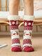 女性クリスマスサンタクロースエルクソックスPlusベルベットスリープソックスカジュアルフロアソックス - #02