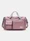 Lightweight Sports Gym Bag with Wet Pocket & Shoes Compartment Travel Duffel Bag Lightweight - Purple