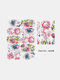 5D Relief Craft Colorful Butterfly Flower Pattern Three-Dimensional Watermark Nail Sticker - #03