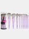 9 Pcs Makeup Brushes Set Beginners Eye Shadow Blush Concealer Makeup Tools With Brush Box - Purple