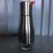 ステンレス鋼と鉛フリーのガラス製オイルディスペンサーソースディスペンサー300 ml防漏型オイルボトル - オレンジレッド