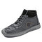 Hombre Anti Collision Toe Hand Stithcing Sock Leather Botas - gris