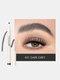 4 Fork Liquid Eyebrow Pencil Waterproof Natural Long-lasting Sketch Tattoo Eyebrow Pen - #01