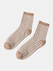 Women Thicken Solid Color Embroidery Sweet Casual Winter Keep Warm Tube Socks - #05