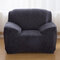 Solid Color Plush Thicken Elastic Sofa Cover Universal Sectional Slipcover 1/2/3 seater Stretch Couch Cover - Dark Gray