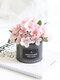 1 peça de Begônia em vasos de flores artificiais Pote de ferro Bonsai, escritório doméstico, decoração de jardim, licença artificial verde Planta decoração - Rosa