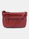 Women Vintage Multi-Layers Crossbody Bag Shoulder Bag - Red