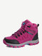 Women Casual Suede Warm Lining Lace Up Hiking Sneakers - Rose