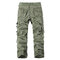 Mens Cotton Solid Multi-pocket Casual Cargo Pants - Grass Green