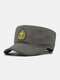 Men Cotton Camouflage Embroidery Print Susnhade Outdoor Casual Flat Hat Peaked Cap Military Hat - Army Green