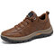 Men Outdoor Waterproof Comfy Slip Resistant Casual Hiking Sneakers - Brown