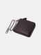 Men Genuine Leather Chains Money Clips Coin Purse Wallet - Coffee 5