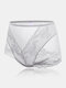 Plus Size Women Lace Jacquard Sheer Breathable Thin High Waist Panties - Gray