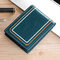 Men Genuine Leather Sewing Thread Car Driving Document Holder Card Foldable Card Holder Wallet - Blue