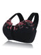 Plus Size G Cup Front Closure Embroidery Wireless Full Coverage Bras - Black