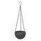 樹脂吊りフラワーポットガーデニングプラントポットフックガーデンプランターバスケットバルコニーの装飾 - グレー