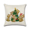 Рождественский декор Featival Хлопок Льняная подушка Обложка Cute Cat Dog Puppy Праздновать наволочку