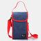 Portable Clamshell Lunch Box Bag Insulated Lunch Bag With Rice Hand Bag Student Lunch Back Milk Ice Bag - Navy Blue