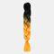 HalloweenColored Gradient Dirty Braids High Temperature Fiber Big Braids Ponytail Hair Extensions - 09