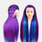 Multicolor Hairdressing Training Head Model Braided Disc Hair Salon Hairdresser Practice Mannequin - 02