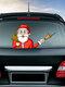 Санта-Клаус Шаблон Авто Наклейка на окно Стикер стеклоочистителя Съемные рождественские наклейки - #12