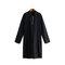 Mens Pathani Kurta Pajama Indian Long T-shirts Cotton Ethnic Suit Solid Autumn Long Sleeve Top - Black
