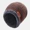 メンズウールPlusベルベット厚手の冬は暖かく防風ニット帽を保つ - コーヒー