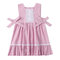 Lace Bow-knot Girls Pleated Casual Dress For 1-5Years - Pink