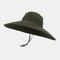 Hat Men's Sun Hat Outdoor Summer Big Along The Sun Hat Leisure Fisherman Hat Men Mountaineering Fishing Sun Hat - Army Green