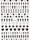 3D Heart Cross Crown Colorful DIY Nail Stickers - #02