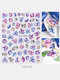 3D Nail Art Stickers Waterproof Small Fresh Colorful Simulation Dried Flowers Butterfly Nail Decals - #06