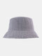 Women & Men Double-sided Technology Warm Casual All-match UV Protection Sunvisor Bucket Hat - Gray
