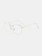 ユニセックスオーバルフレームメタルとPCフレームアンチブルーライトアンチUVサングラス - #06