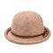 Cappello da pescatore a forma di fiocco semplice da donna Cappellino in ciniglia elegante e selvaggio Cappello regolabile confortevole - Rosa 1