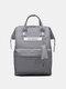 Casual Oxford Splashproof Large Capacity 14 Inch Handbag Backpack - Gray