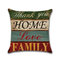 Vintage Mediterranean Hand-Painted Letters Cushion Cover Linen Throw Pillow Car Home Decoration Decorative Pillowcase - #1