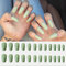 24Pcs/Box Full Cover Frosted Ballet Nail Tips Almond Press On Nails Wearable Fake Nail with Glue - 17