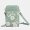 Women Daisy Clutch Bag Card Bag Phone Bag Crossbody Bag - Green