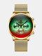 Luxury 30 Meters Waterproof Clock Male Casual Mesh Belt Quartz Watch - Gold Shell Gold Band